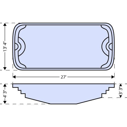 American Pools-Colorado dimensions