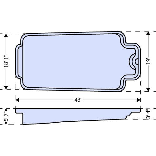 American Pools-Guadalupe dimensions