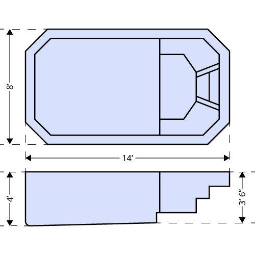American Pools-Lavaca dimensions