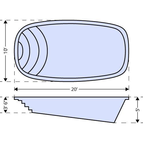 American Pools-Nueces dimensions