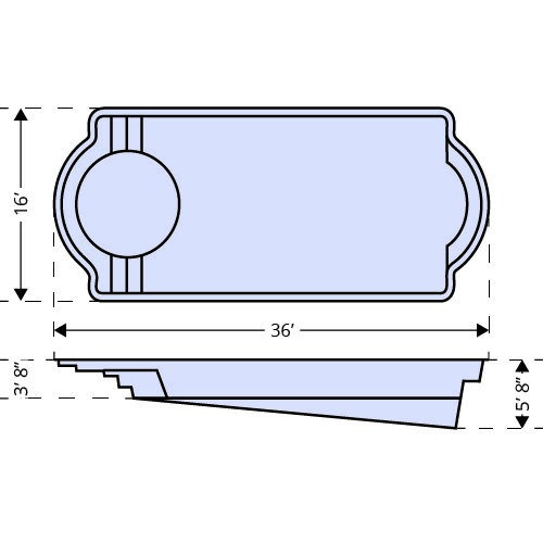 Cathedral LX 36ft length dimensions