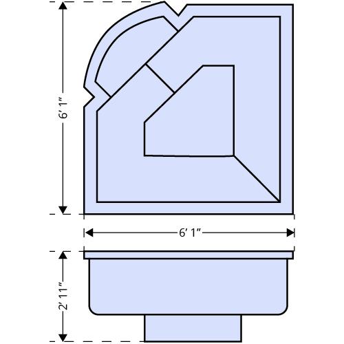 Cove Spa dimensions