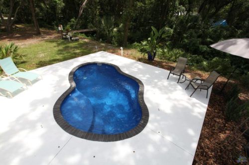 Crystal Cove with concrete deck