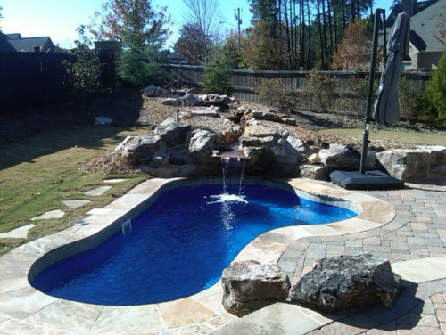 Crystal Springs with pavers landscaping