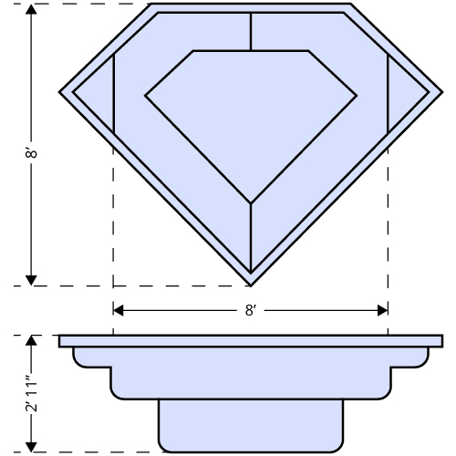 Diamond Spa dimensions