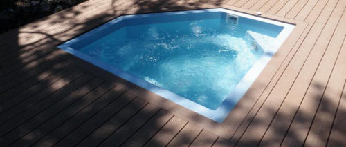 Diamond Spa with wood deck