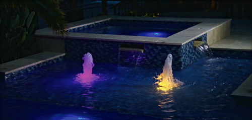 Floor bubblers with night lights