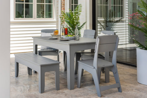 Mainstay dining table, chairs, and bench