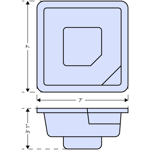 Lido Spa dimensions