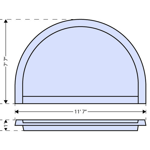 Round Tanning Ledge dimensions