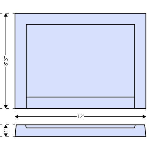 Scottsdale Tanning Ledge dimensions