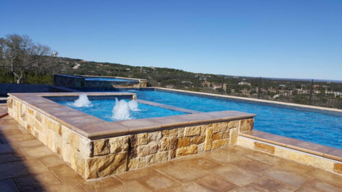 Scottsdale Tanning Ledge with water jets