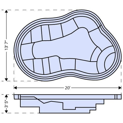 Sydney Spa dimensions