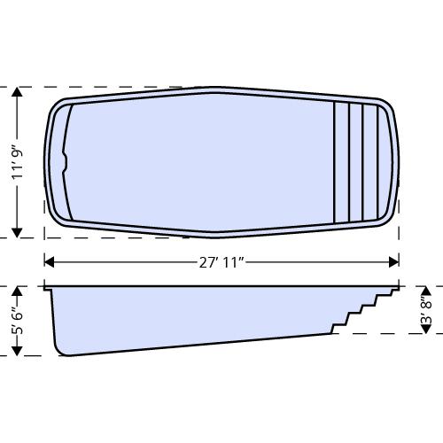Waikiki II dimensions