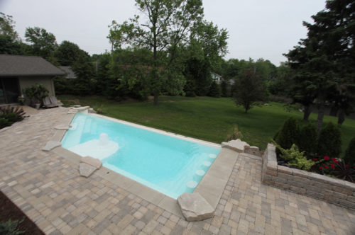 iPool with pavers deck