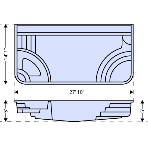 iPool2 dimensions